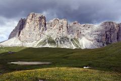 Mount ponta lastoi de formin, 2657 m, dolomites, alto adige, south tirol, alp Stock Photos