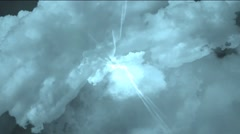 Angel flight in the clouds Stock Footage