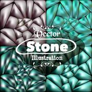 Stone blue background for your ideas - stock illustration