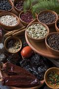 Seeds and spices used in traditional recipes, antigua, guatemala, central ame Stock Photos