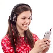 Stock Photo of girl on internet