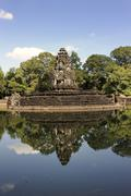 neak pean with pool, this system is situated on an artificial island in the c - stock photo