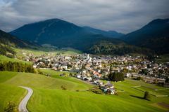 innichen, drei zinnen area, dolomite alps, italy, europe - stock photo