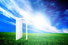 Door to new world. colourful, bright, great quality. Stock Illustration