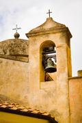 Bell tower, church, porto azzurro, elba island, italy, europe Stock Photos