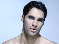 21-year-old man, beauty portrait - stock photo