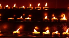 Prayers Church Candles Stock Footage