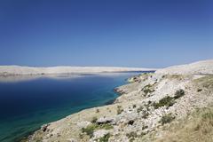 Stock Photo of barren landscape of pag island, zadar, croatia, dalmatia, europe