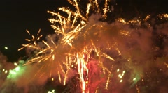 Out-Focus Dramatic Anniversary Celebration Fireworks background Stock Footage