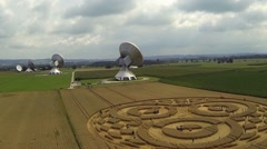 Stock Video Footage of Crop Circle Raisting Ammersee Germany July 2014