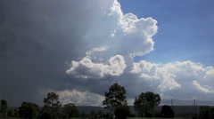 Cumulonimbus Time Lapse with Blue Sky Stock Footage