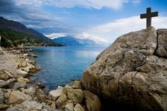 Adriatic coast near split in croatia, europe Stock Photos