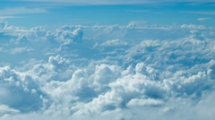 Cumulus clouds. top view from the aircraft Arkistovideo