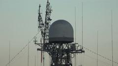 Stock Video Footage of Antennas warship. 4K.