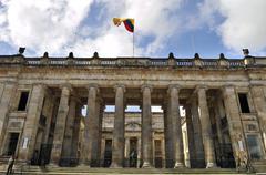 national capitol, capitolio nacional, bolívar square, plaza de bolívar, bog - stock photo