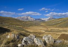 high plateau gran sasso d\'italia, abbruzzies, abruzzo, italy, europe - stock photo