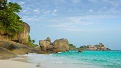 Picturesque tropical ocean coast. thailand, similan Stock Footage
