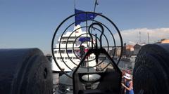 Target of a Battle warship gun. 4K Stock Footage