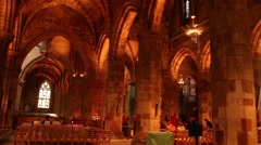 St Giles' Cathedral Interior Stock Footage