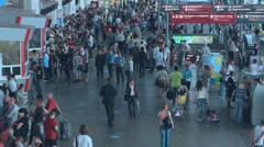 Time lapse moscow railway station people going Stock Footage