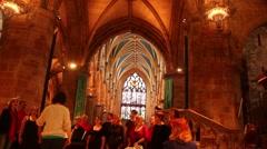Choir Singing in a church Stock Footage