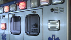 Ambulance back lights Stock Footage