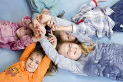 Group of children, 4 to 11 years old Stock Photos