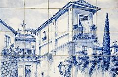 Spanish ceramic tile Stock Photos