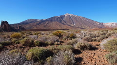 Teide Peak in Teide National Park, Canary Islands, Spain Stock Footage