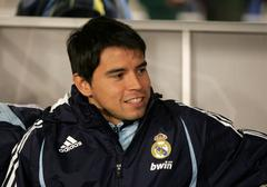 Javier Saviola of Real Madrid - stock photo