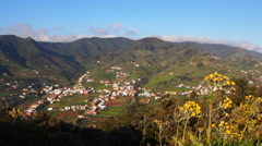 Anaga Mountains from the hill near La Laguna on Tenerife, Canary Islands Stock Footage
