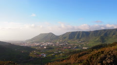 View towards Tegueste – landscape of northern Tenerife, Canary Islands Stock Footage