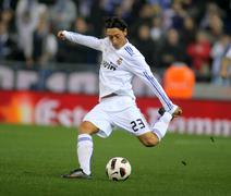 Mesut Ozil of Real Madrid Stock Photos