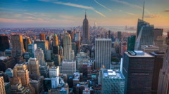 4K UltraHD A beautiful timelapse of nightfall in the heart of Manhattan - stock footage