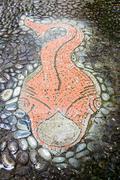 Tiled fish Stock Photos