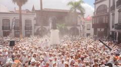 Los Indianos Party in Santa Cruz de La Palma Stock Footage