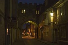 city gate, salisbury, dorset, south england, england - stock photo