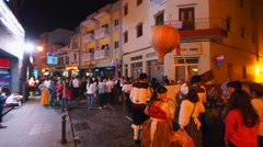 El Baile de Magos – traditional party in Icod de los Vinos on Tenerife Stock Footage