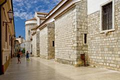 the old town of krk on the isle of krk in croatia - stock photo