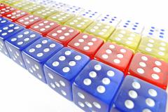 Dice, symbolic for gambling Stock Photos