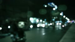 Abstract blurred view of the traffic in an asian city Stock Footage
