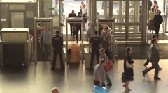 Moscow railway station and russia security people Stock Footage