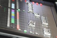 audio sound mixer in concert - stock photo