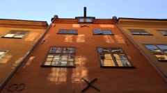 Old windows from Stockholm Stock Footage