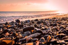 Sunrise at the beach-2 Stock Photos