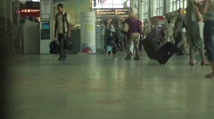 Moscow Elevator on terminal railway station Stock Footage