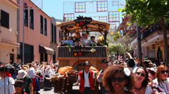 Romeria de Tegueste – Traditional Canarian Party in Tegueste on Tenerife Stock Footage