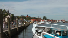 Flensburg, the northermost city in Germany Stock Footage