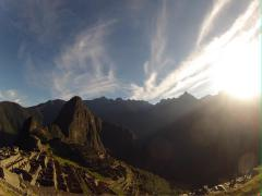 Sunrise timelapse in macchu picchu ruins Stock Footage