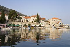 bol harbour, brac island, dalmatia, croatia, europe - stock photo
